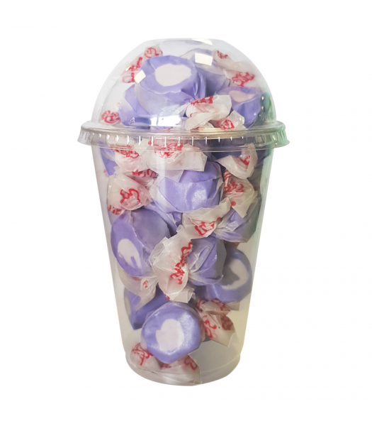 Taffy Town Huckleberry Salt Water Taffy Cup (23pcs) (182g) Sweets and Candy Taffy Town