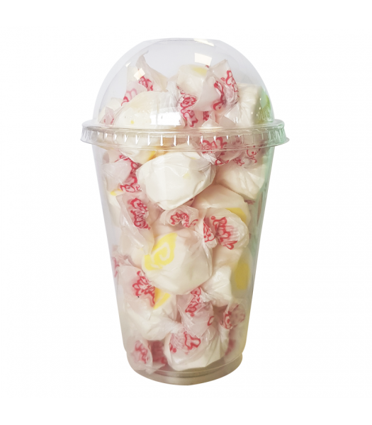 Taffy Town Pina Colada Salt Water Taffy Cup (23pcs) (182g) Sweets and Candy Taffy Town