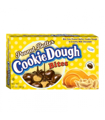 Cookie Dough Bites Peanut Butter 3.1oz (88g) Theatre Box Chocolate, Bars & Treats Cookie Dough Bites