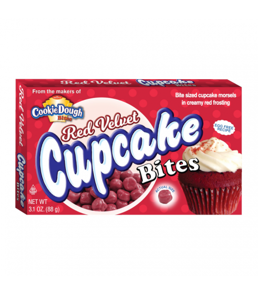 Red Velvet Cupcake Bites 3.1oz Chocolate, Bars & Treats Cookie Dough Bites