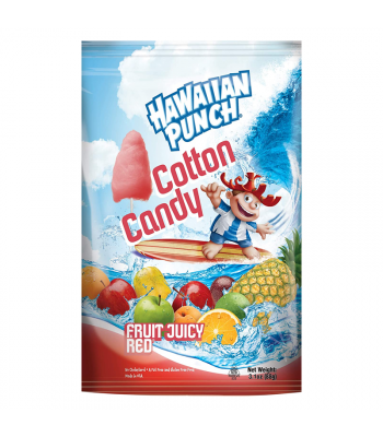 Hawaiian Punch Cotton Candy Fruit Juicy Red - 3.1oz (88g) Sweets and Candy Taste of Nature