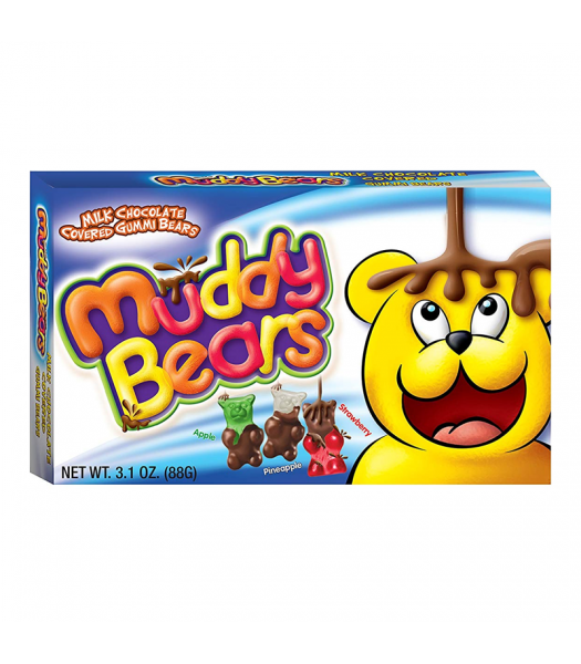 Muddy Bears Milk Chocolate Covered Gummi Bears - 3.1oz (88g)  Sweets and Candy Cookie Dough Bites