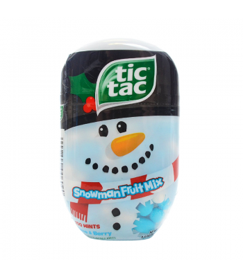 Tic Tac Christmas Snowman Fruit Mix Bottle 3.4oz (98g) Hard Candy Tic Tac