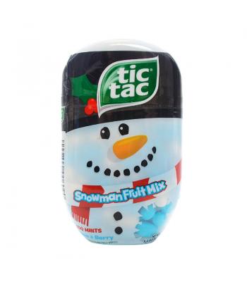Tic Tac Christmas Snowman Fruit Mix Bottle 3.4oz (98g) Hard Candy Tic Tac