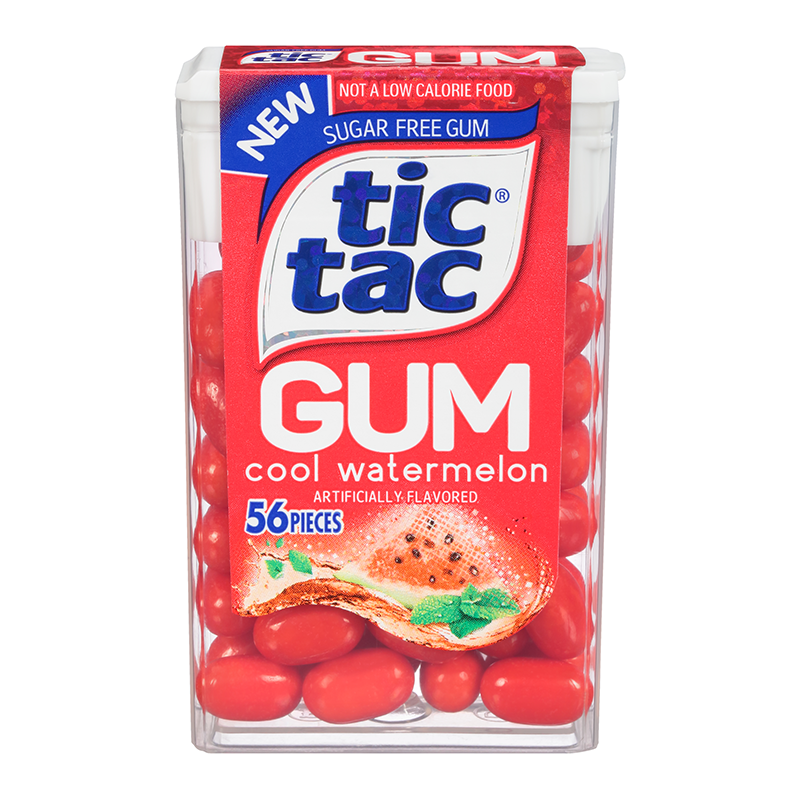 Tic Tac Gum Cool Watermelon 0.95oz - 56 Pieces - American Fizz