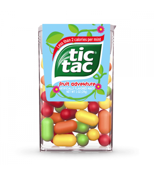 Tic Tac Fruit Adventure Flavour - 1oz (29g) Sweets and Candy Tic Tac