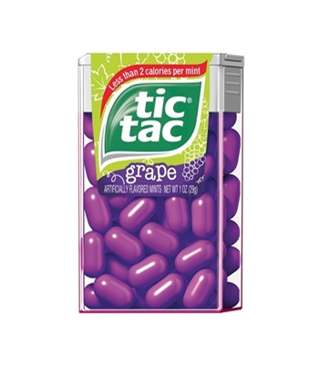Tic Tac Grape Flavour - Big Pack Hard Candy Tic Tac