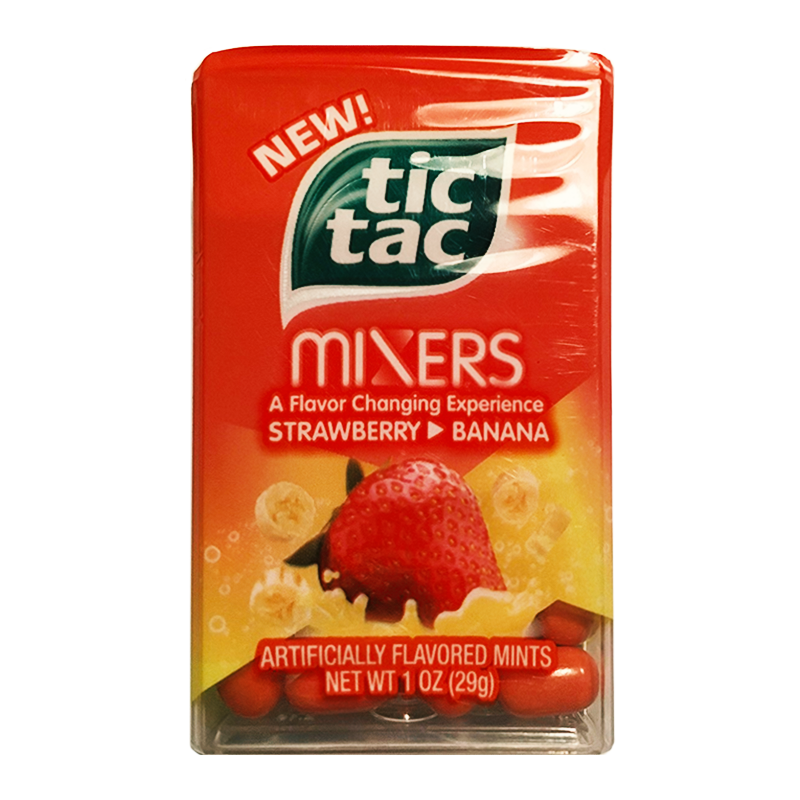 Tic Tac Mixers - Strawberry Banana - 1oz (29g) - American Fizz