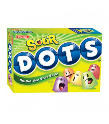 Tootsie Sour Dots Theatre Box 6oz (170g) Sweets and Candy Tootsie