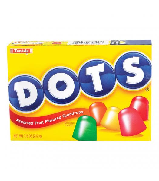 Tootsie Dots Candy Theatre Box 6.5oz (184g) Soft Candy Tootsie