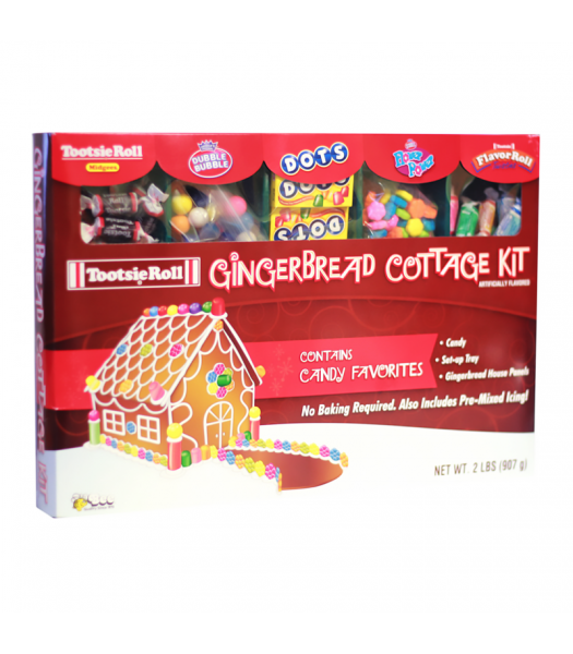 Tootsie - Christmas Gingerbread Cottage Kit - 2lbs (907g) [Christmas] Sweets and Candy Tootsie