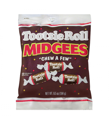 Tootsie Roll Midgees 26-Piece Bag 6.5oz (184g)