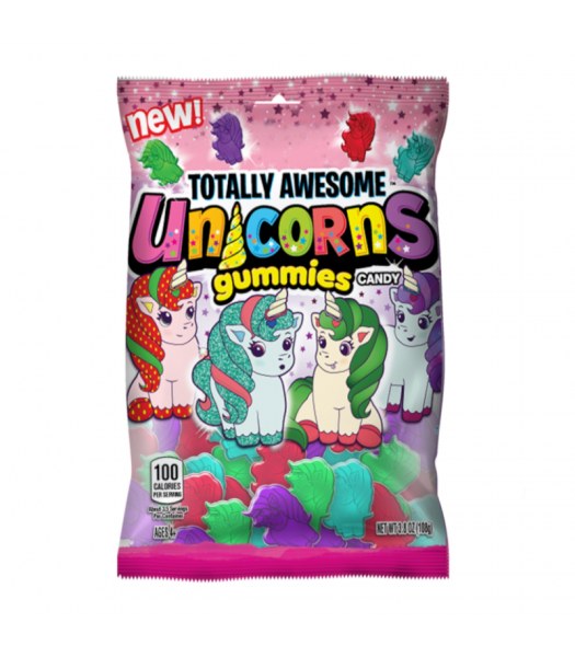 Topps Totally Awesome Unicorn Gummies - 3.8oz (108g) Sweets and Candy