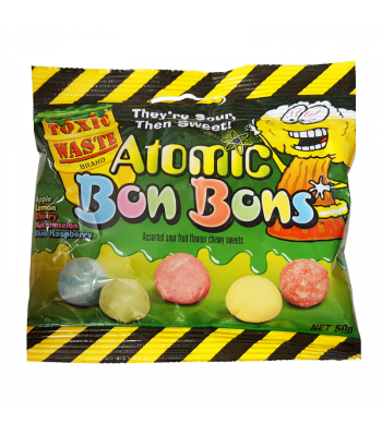 Toxic Waste Atomic Bon Bons Sour Candy - 150g Soft Candy