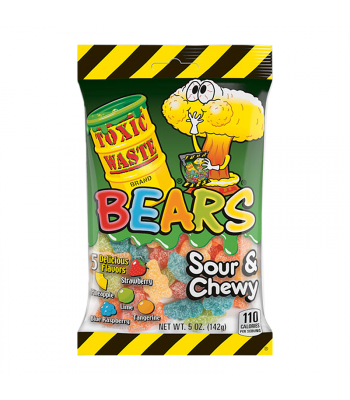 Toxic Waste Sour Gummy Bears 5oz (142g) Sweets and Candy Toxic Waste