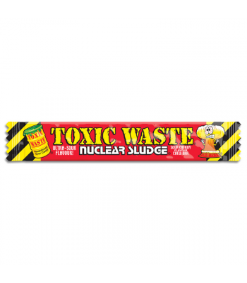 Toxic Waste Nuclear Sludge Chew Bar Sour Cherry 0.7oz (20g) Soft Candy Toxic Waste