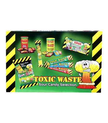 Toxic Waste Sour Candy Selection Box (385g) Sweets and Candy Toxic Waste