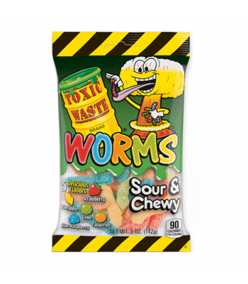Toxic Waste Sour Gummy Worms 5oz (142g) Sweets and Candy