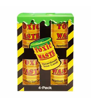 Toxic Waste Yellow Drum 4-Pack (168g) Sweets and Candy Toxic Waste