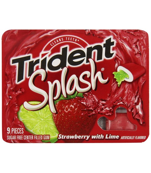 Trident Splash Strawberry Lime Swirl 9-Piece Sweets and Candy Trident