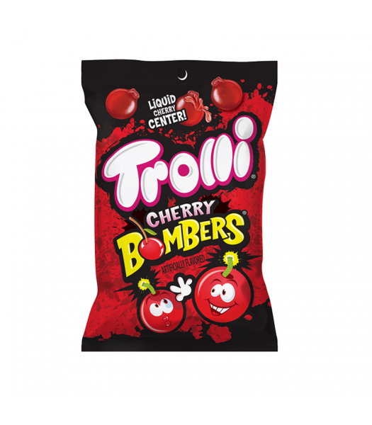 Trolli Cherry Bombers Peg Bag - 4.25oz (120g) Sweets and Candy Trolli