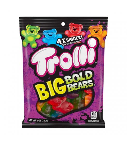 Trolli Big Bold Bears Peg Bag - 5oz (141g) Sweets and Candy Trolli