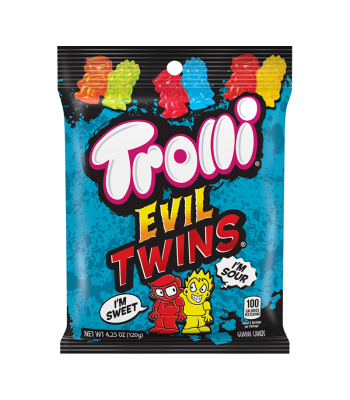 Trolli Evil Twins Peg Bag - 4.25oz (120g) Sweets and Candy