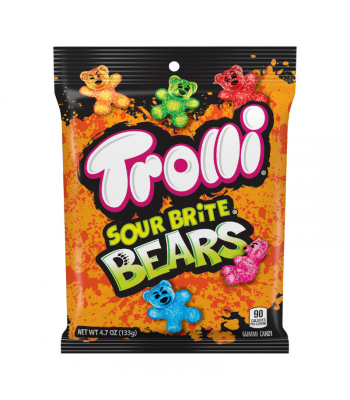 Trolli Sour Brite Bears Peg Bag - 4.7oz (133g) Sweets and Candy Trolli