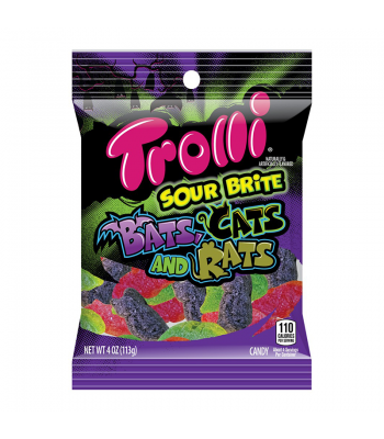 Trolli Sour Brite Bats, Cats & Rats - 4oz (113g) Sweets and Candy Trolli
