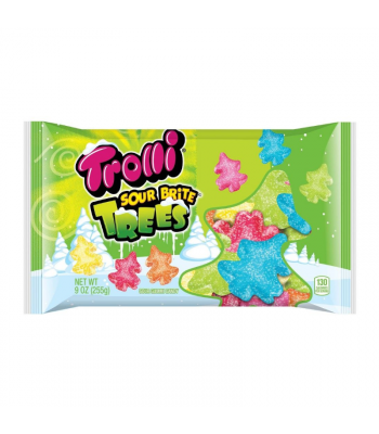 Trolli Sour Brite Gummy Christmas Trees - 9oz (255g) Sweets and Candy Trolli