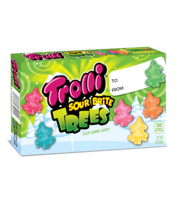 Trolli Sour Brite Trees Theatre Box - 3oz (85g) [Christmas]