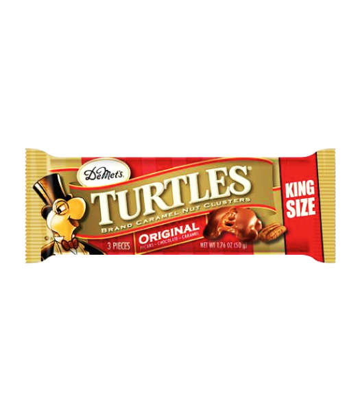 DeMet's Turtles Original 3 Piece King Size Bar 1.76oz (50g) Sweets and Candy DeMet's