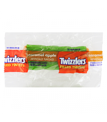 Twizzlers - Filled Caramel Apple Snack Size Twist - (14g) [ Halloween Limited Edition ] Soft Candy Twizzlers