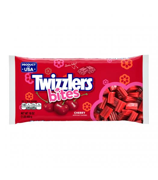 Twizzlers Bites - Cherry - 16oz (453g) Soft Candy Twizzlers