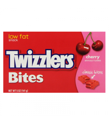 Twizzlers Cherry Bites Big Box 5oz (141g) Soft Candy Twizzlers