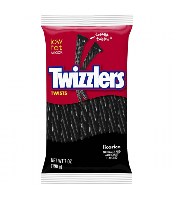 Clearance Special - Twizzlers Black Licorice Twists 7oz (198g) **Best Before: October 20** Clearance Zone