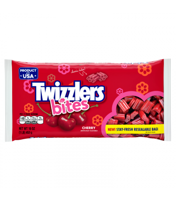 Clearance Special - Twizzlers Bites - Cherry - 16oz (453g) ** Best Before: June 2018 ** Clearance Zone