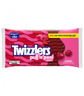 Twizzlers Cherry Pull 'n' Peel - 14oz (397g) Soft Candy Twizzlers