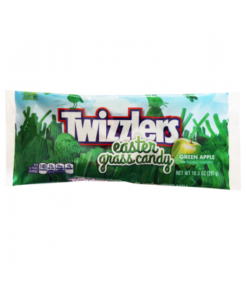 Twizzlers Green Apple Easter Grass Candy 10.5oz (297g) Soft Candy Twizzlers
