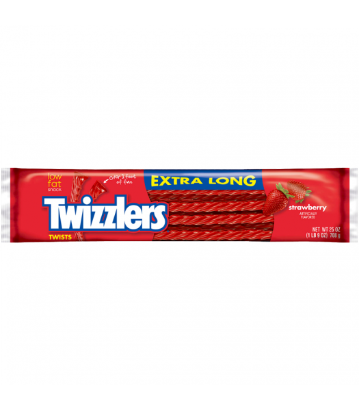 Twizzlers - Strawberry - EXTRA LONG - 25oz (708g) Soft Candy Twizzlers