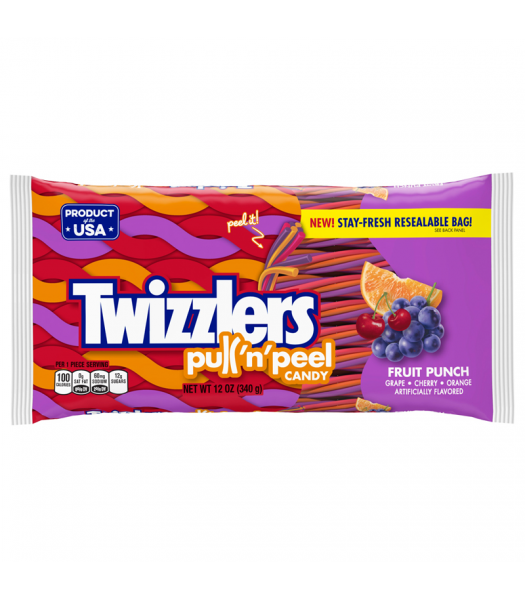 Clearance Special - Twizzlers - Fruit Punch Flavour Pull n Peel - 12oz (340g) **Best Before: Feb 21** Clearance Zone