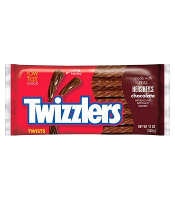 Twizzlers Hershey's Chocolate Twists 12oz (340g) Soft Candy Twizzlers