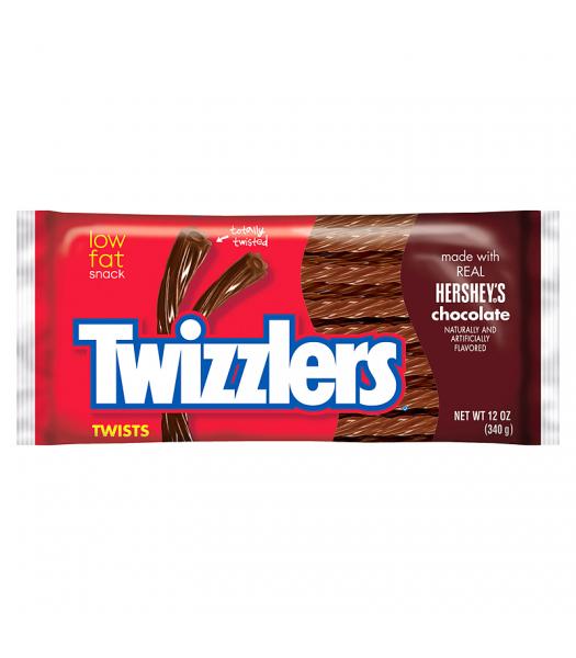 Twizzlers Hershey's Chocolate Twists 12oz (340g) Soft Candy Twizzlers