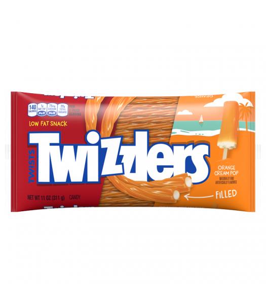 Twizzlers Orange Cream Pop Filled Twists - 11oz (311g)   Soft Candy Twizzlers