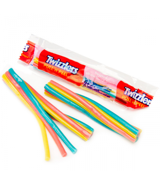 Twizzlers Pull 'n' Peel Twizted Strawberry Blast Mini - SINGLE Sweets and Candy Twizzlers