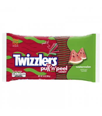 Twizzlers - Watermelon Pull N Peel - 14oz (397g) Soft Candy Twizzlers