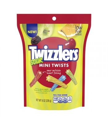 Twizzlers Sour Mini Twists 8oz Sweets and Candy Twizzlers