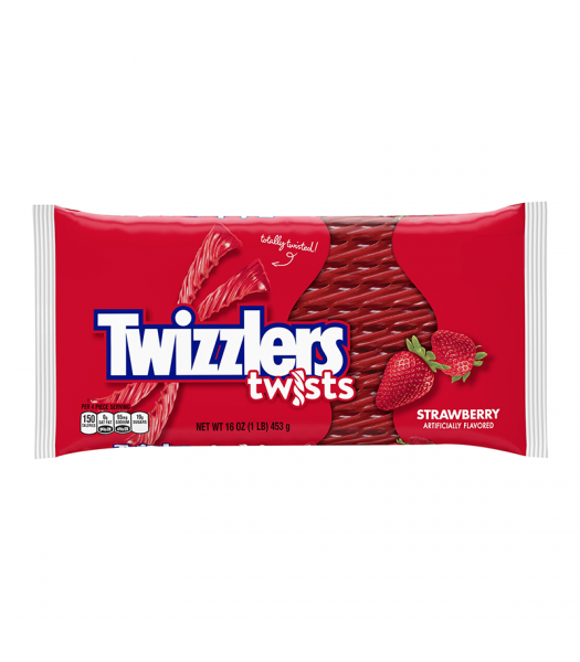 Twizzlers - Strawberry Big Pack - 16oz (454g) Soft Candy Twizzlers