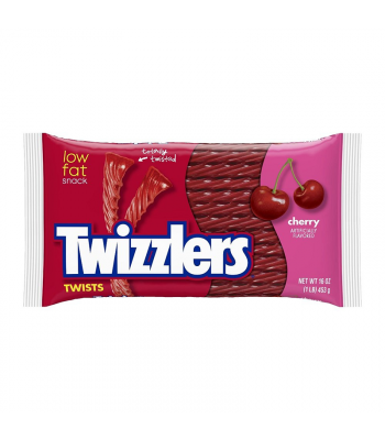 Twizzlers Cherry Twists 16oz (453g) Sweets and Candy Twizzlers