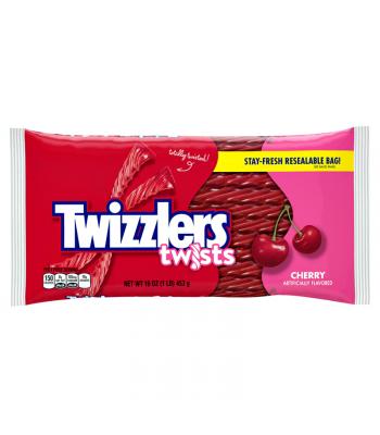 Twizzlers Cherry Twists 16oz (453g) Soft Candy Twizzlers